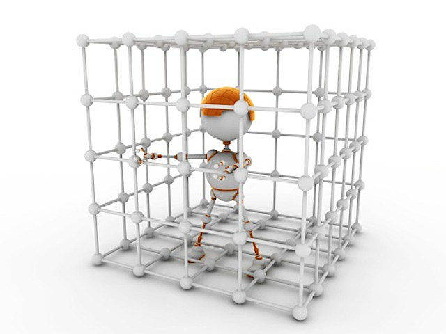 Robot in cage