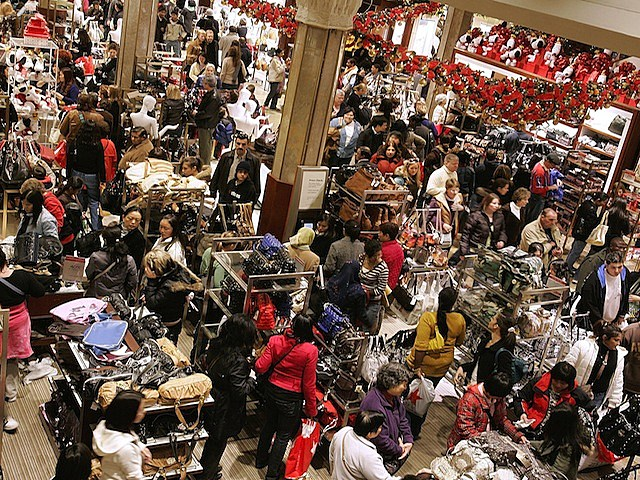 "Christmas Shopping Season Gets Underway On ""Black Friday"""