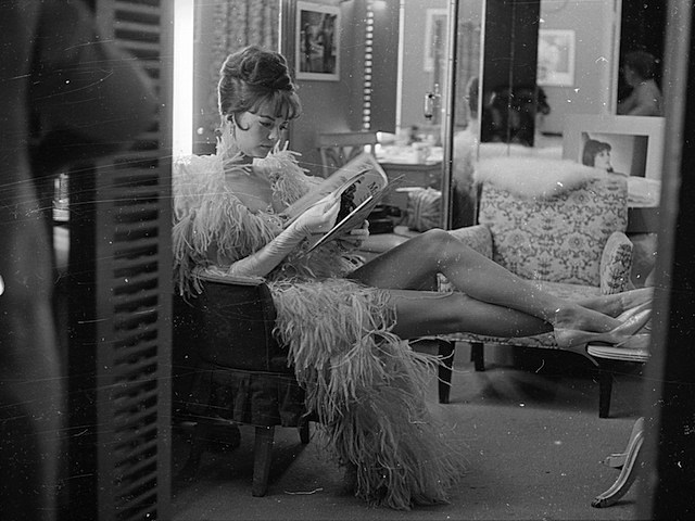 Natalie Wood Relaxing Backstage