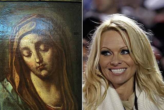 Pam Anderson Virgin Mary