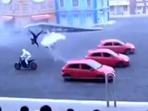 Motorcyle Stunt Gone Horribly Wrong
