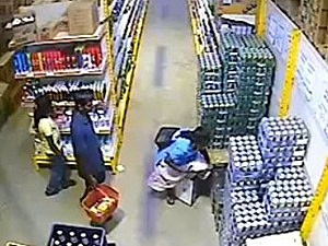 Woman steals beer