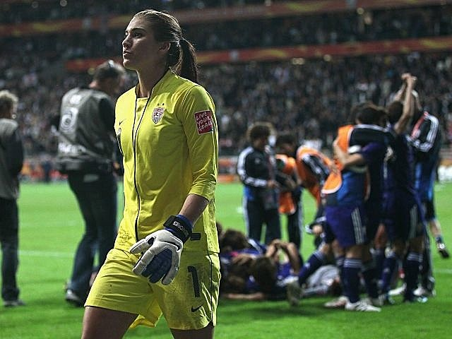 US goalkeeper Hope Solo, US lost to Japan in World Cup finals