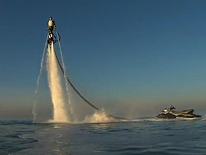 water powered jetpack sea-doo Franky Zapata