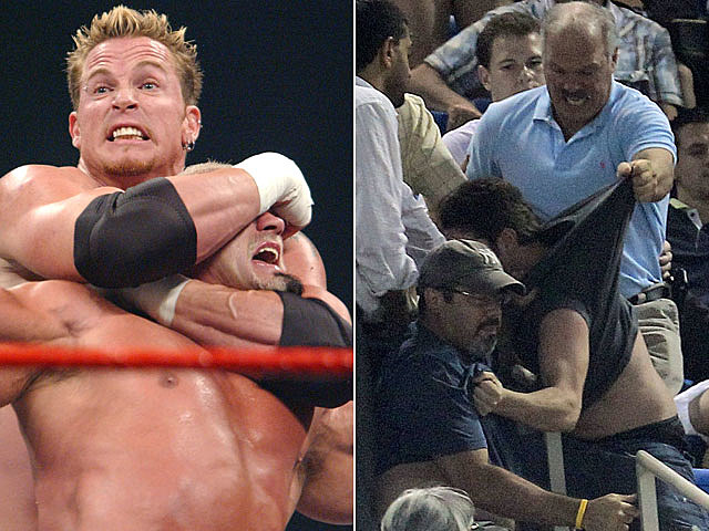 Wrestling vs. wresting strangers