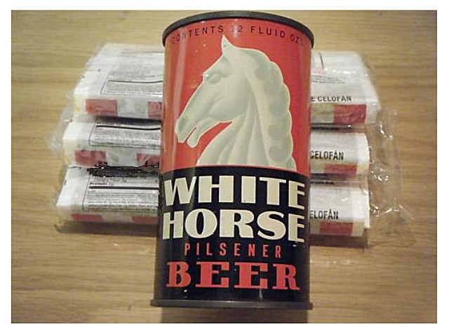 White Horse Pilsner can