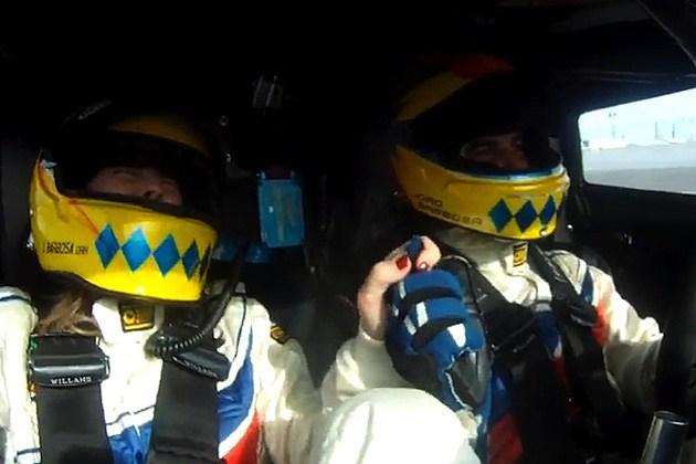 Joao Barbosa wife youtube racer daytona international speedway 2 seater Daytona Prototype 185 mph