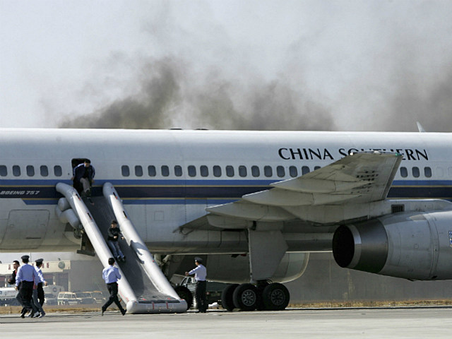 airline evacuation drill in China