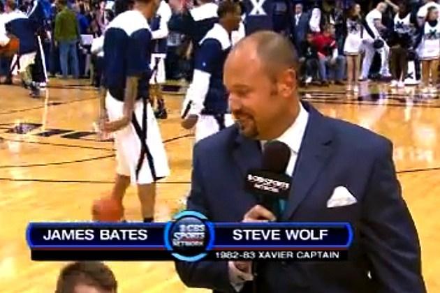 james bates falls steve wolf cbs sports xavier dayton