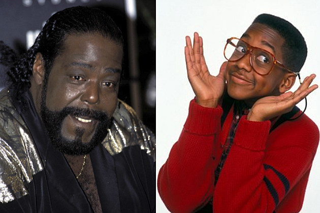 Barry White and Jaleel White as Urkel