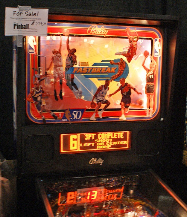 nba fastbreak texas pinball festival