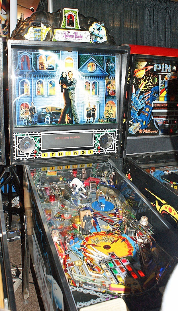 the addams family midway pinball texas pinball festival