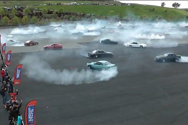 75 car burnout infineon raceway sonoma california