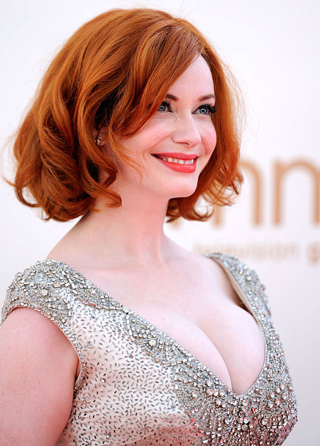 Christina Hendricks glitter
