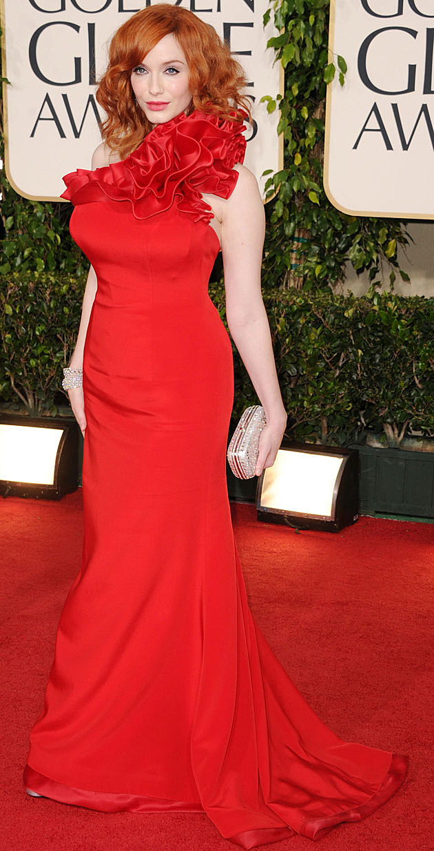 Christina Hendricks red dress
