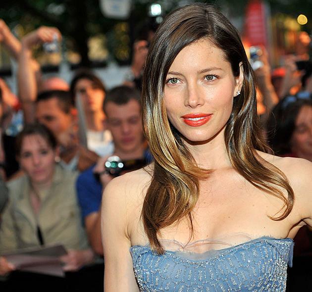 Jessica Biel blue top