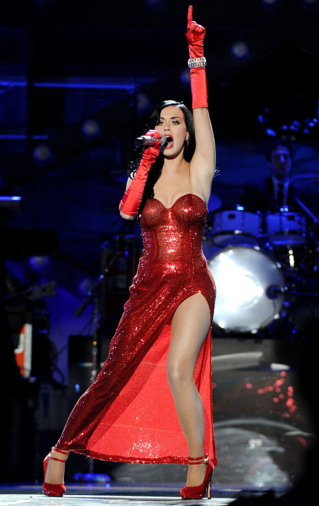 Katy Perry red dress