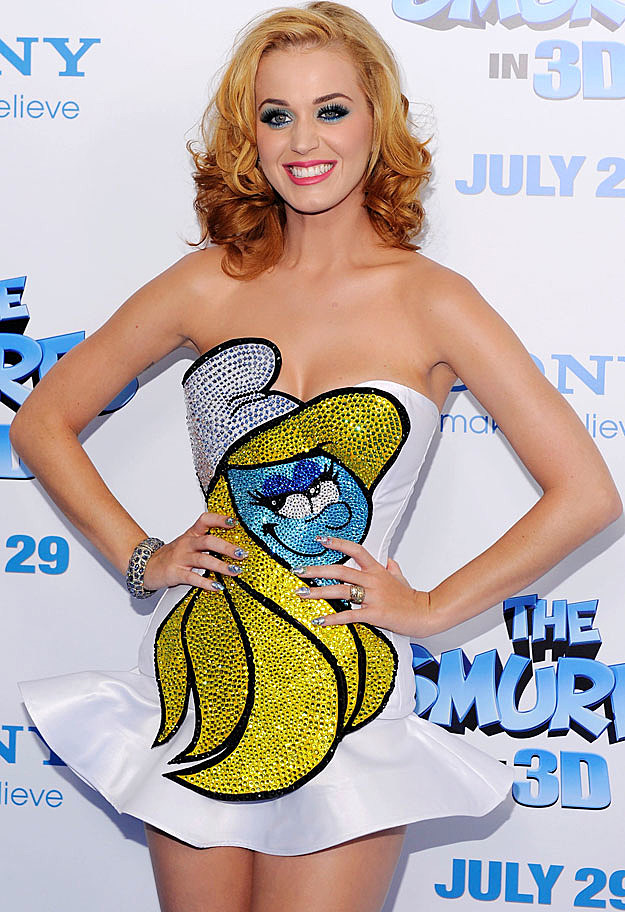 Katy Perry Smurfs