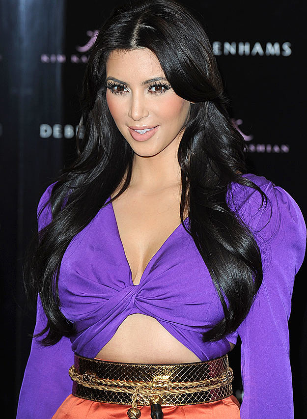 Kim Kardashian violet top