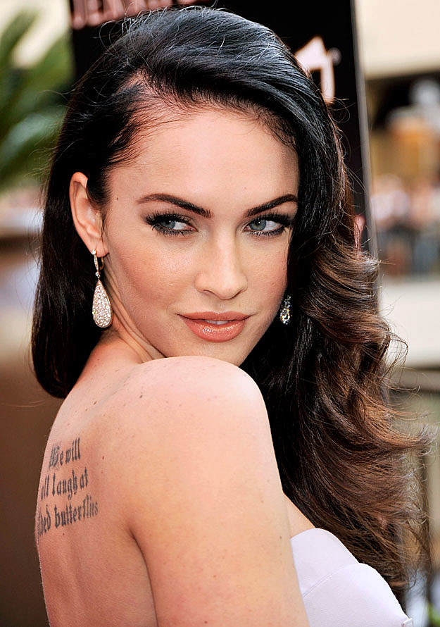 Megan Fox back tattoo