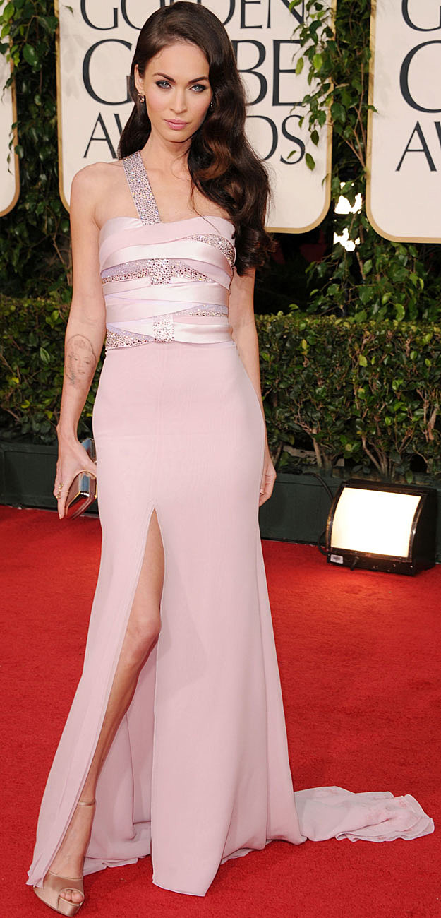Megan Fox Golden Globe red carpet