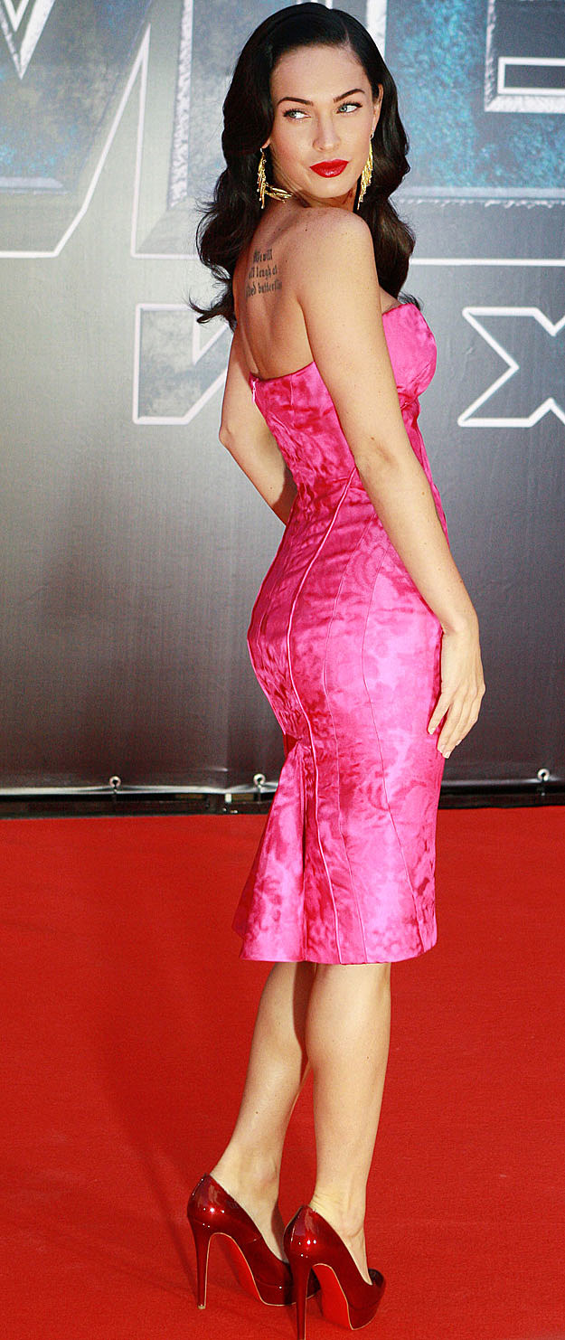 Megan Fox pink dress