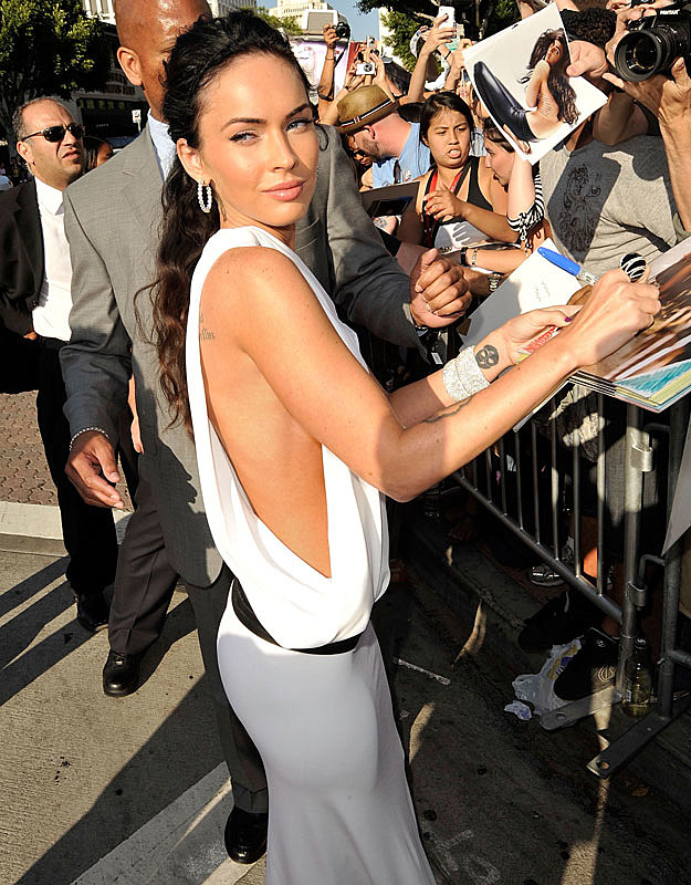 Megan Fox signing autographs