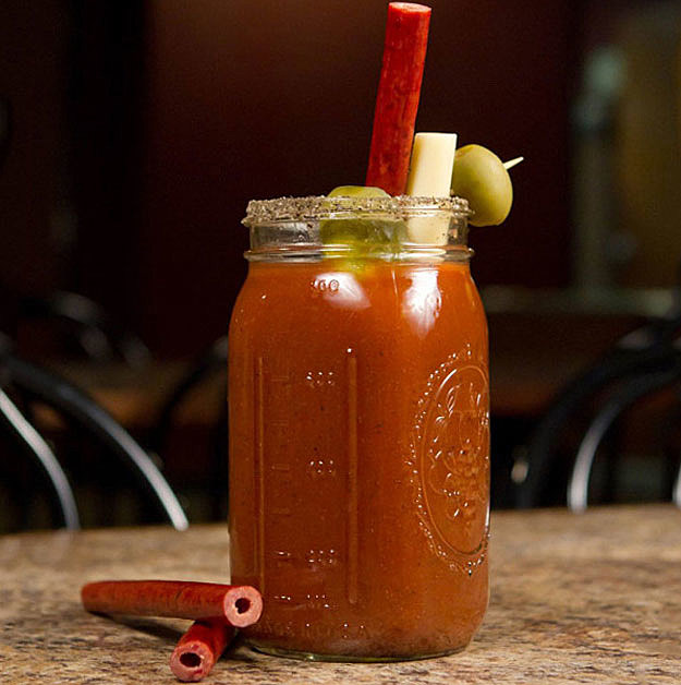 Slim Jims Straw Bloody Mary