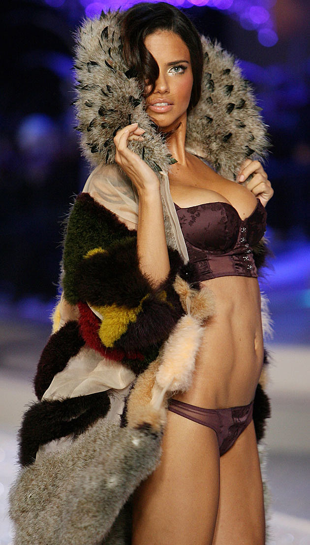 Adriana Lima Victoria's Secret coat
