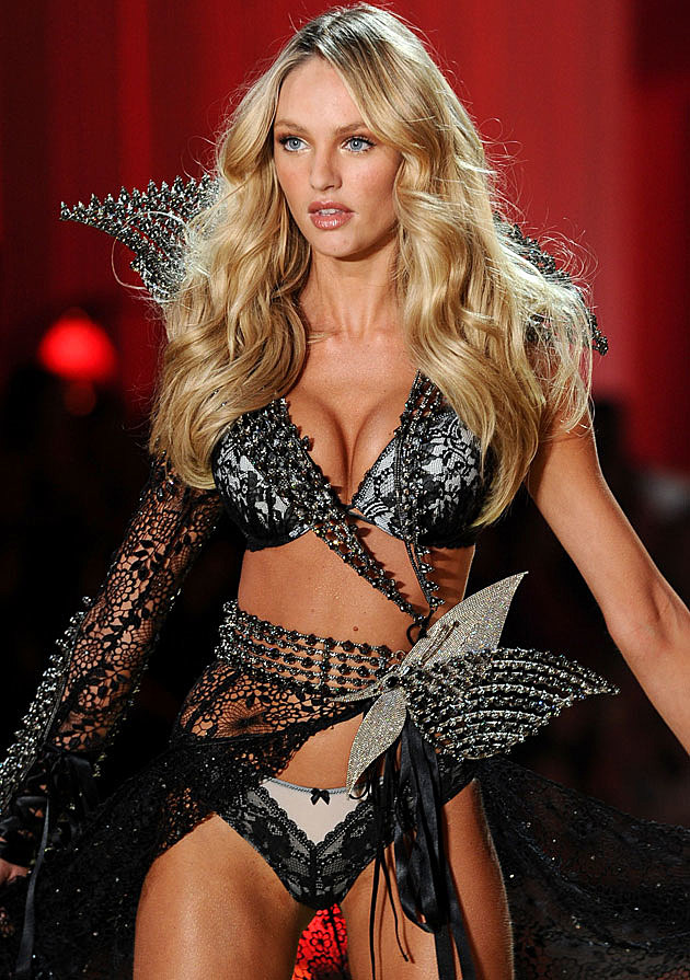 Candice Swanepoel Victoria's Secret show black