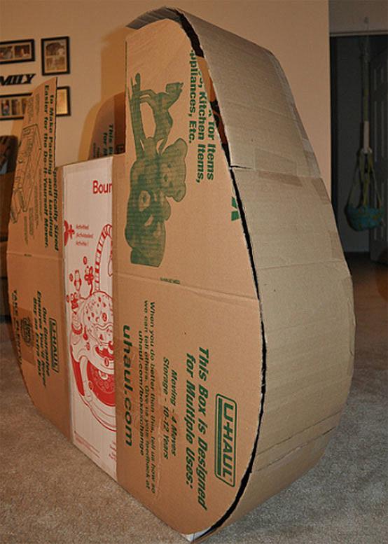 Millenium Falcon cardboard boxes