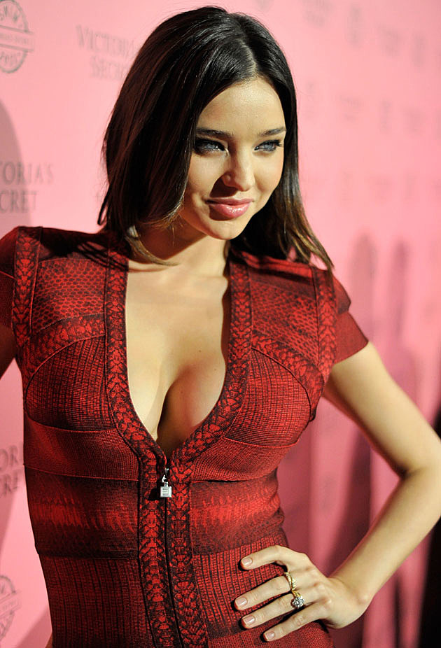 Miranda Kerr low cut dress