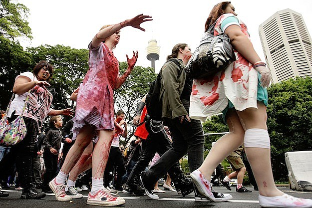 Zombies Walk The Streets Of Sydney undead