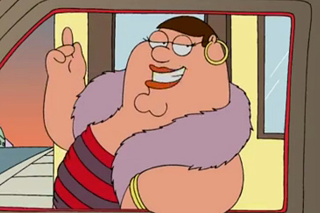 Peter Griffin from 'Family Guy' as a prostitute