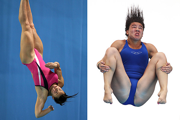 Hot Girls Diving, Funny Faces