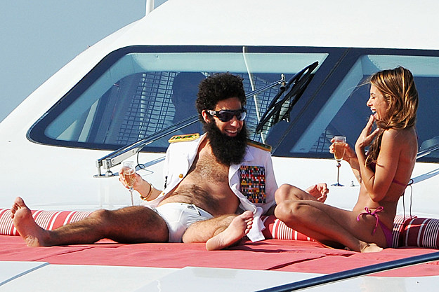 Sasha Baron Cohen as 'The Dictator' with Elisabetta Canalis