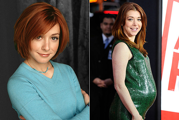Alyson Hannigan from 'Buffy' then and now