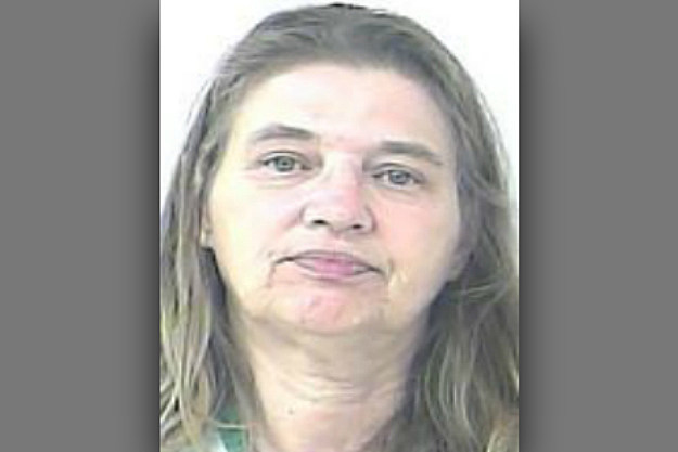 Barbara Hall was arrested after she and her boyfriend fought over lube.