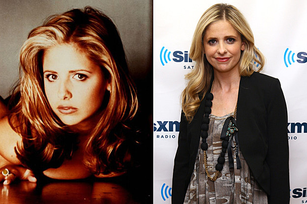 Sarah Michelle Gellar from 'Buffy' then and now