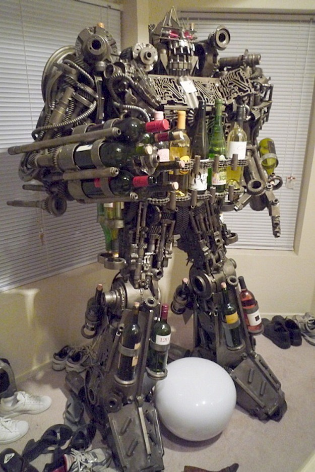 Transformers Wine Rack Full