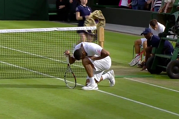 Jo-Wilfried Tsonga tebowing