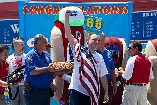 Joey Chestnut Wins Fourth of July Hot Dog Eating Contest