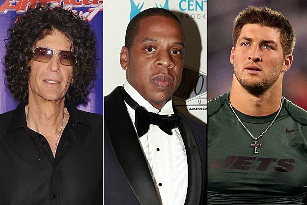 Howard Stern, Jay-Z and Tim Tebow all made AskMen's list of Top 49 Men of 2012.