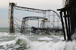 asbury park roller coaster sandy