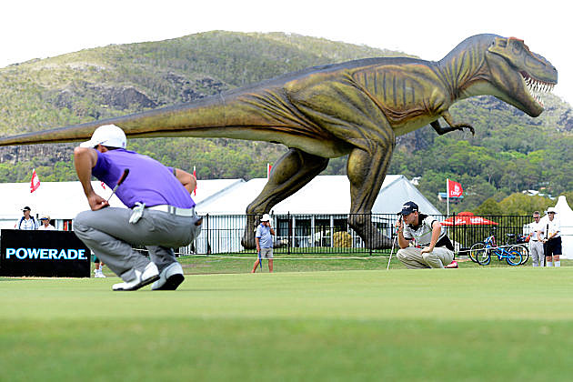 Jeff the T-Rex overlooks the Australian PGA Championship