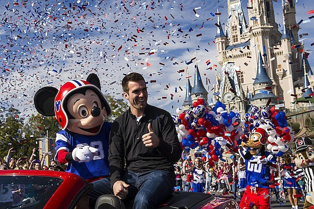 Joe Flacco and Mickey Mouse