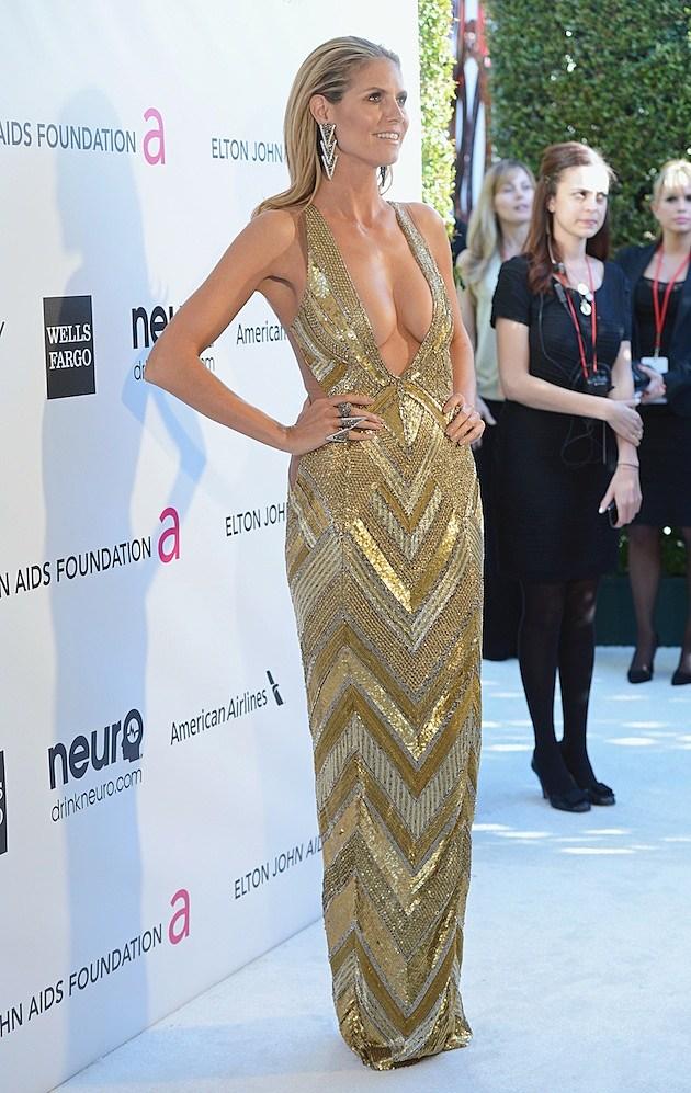 Heidi Klum Wore This Dress To An Oscar Party