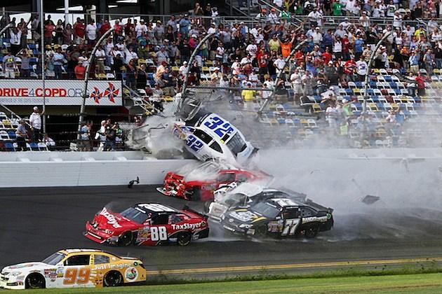 Kyle Larson Daytona Crash