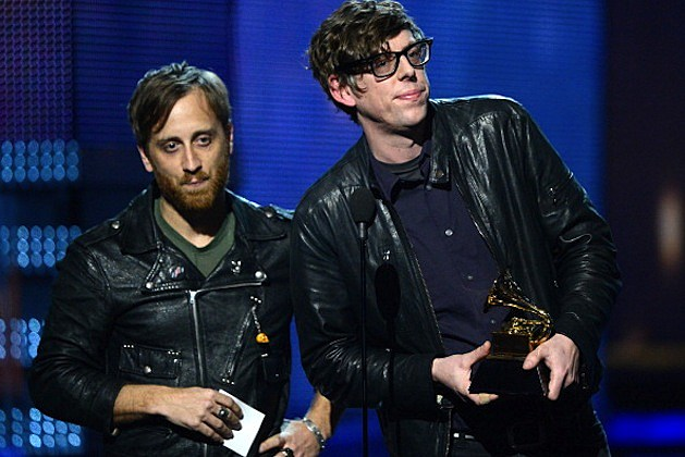 "Black Keys accept Best Rock Performance for ""Lonely Boy"" onstage at the 55th Annual GRAMMY Awards"