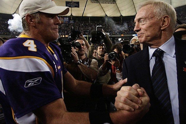 Brett Favre Jerry Jones